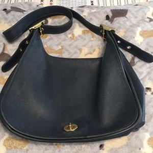 Blue Messenger Bag Vintage